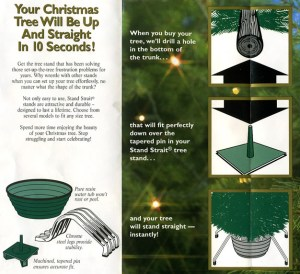 Your Christmas Tree will be straight in 10 seconds!