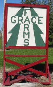 Sign for Grace Farms